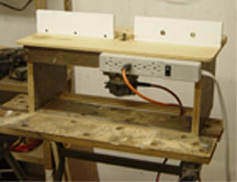 Simple router table clamped to it for a fence if you dont make the one shown below the dimensions are only suggested they can be altered to make use of material you have greentooth Choice Image