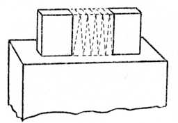 Fig. 136.—Cutting Wedges     from Waste of Haunching.