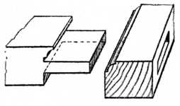 Fig. 147.—Tenoned and     Scribed Joint.