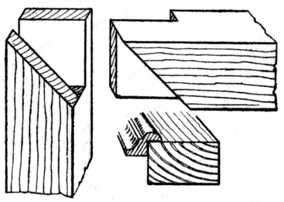 Fig. 159.—Tenon Joint with Mitred Face.