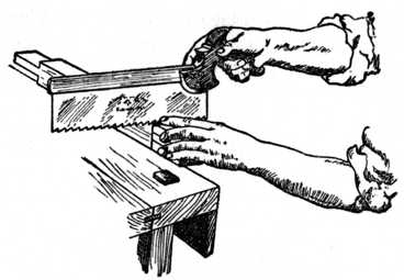 Fig. 182.—Sawing away Waste Material.